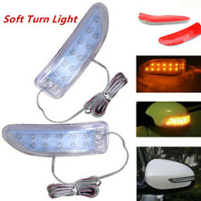 2PCS Car Side Mirror Soft Turn Signal Led Light Amber Indicator Lamps Waterproof