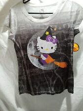Hello Kitty T-shirt Witch Halloween Size Junior's Sanrio Small Medium NWT