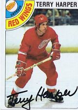 Terry Harper 1978 Topps Autograph #214 Red Wings