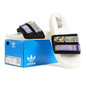 Adidas Adilette 2.0 Pride Slides Off White / Core Black / Light Purple GW2411