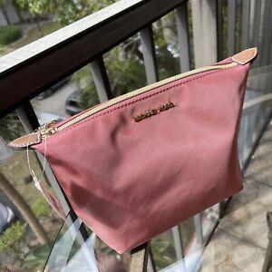 NWT Michael Kors Travel Medium Luggage Kit Pouch Cosmetic  Bag Rose