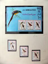 SOMALIA 1980 Beautiful Birds Set & M/Sheet U/M NM595