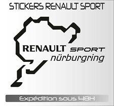 sticker décal autocollant adhésif voiture :clio RS RENAULT nurburgring