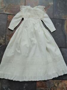 Antique 1800s Victorian Baby Christening Dress for Large German French Doll