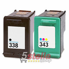 CARTUCCE 338 343 PER HP PHOTOSMART PRO B8350 PSC 1510 1600 1610 2350 2355 2610