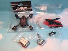 Hubsan H107C Quadcopter Spare Parts Kit Motors-Body-Battery-Blades-LED Red/Black