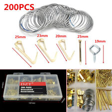 200PC Picture Hanging Kit 50LBS Screw Eye/Wire/Nail Hanger/Photo Frame Assorted