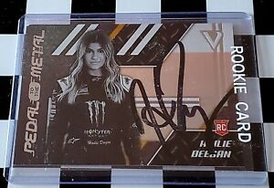 HAILIE DEEGAN SIGNED CARD NASCAR MONSTER