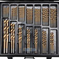 99pcs/set Titanium Coated Twist Drill Bits Set Tool Metric System 1.5mm-10mm