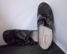 KLOGS -  Women's Black Suede Floral Design Clog-Slip Resistant - SIZE 9