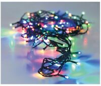 96 Multi Coloured Led Christmas Fairy String Lights Indoor Outdoor Battery