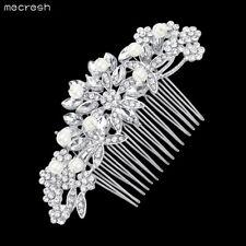 Mecresh Flower Simulated Pearl Bridal Hair Combs Women Hair Accessories MFS157