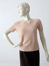 Giorgio Armani pink top knit short sleeve crew neck shirt blouse size M (46)