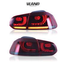 Full LED Tail Light For VW GOLF 6 MK6 2010-2014 Cherry Red Smoked Rear Light