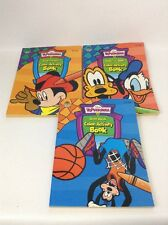 Toontown Lot 3 Coloring Activity Books Mickey Donald Pluto Goofy Vintage 1990s