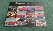 November 1979 / 1980 ALFA ROMEO ALFETTA GTV 2000 L - UK BROCHURE