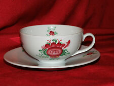 Teetassen ca. 0,2 ltr. mit Untertasse Original Ostfriesen Rose