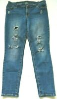 Old Navy Womens Jeans Size 14 Rockstar Mid Rise Medium Wash Distressed Stretch