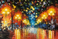 Rain Night, Oil Painting Hand Painted,91 X 61 cm, A01