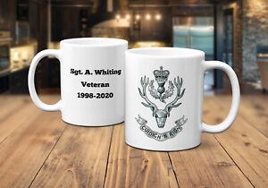 Queens own Highlanders Coffee/Tea Personalised Mug