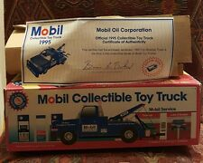 MOBIL COLLECTIBLE TOY TOW TRUCK 1.24 SCALE BLUE 3RD IN A SERIES 1995 NIB