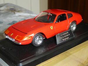 Majorette - 1/24 Scale Ferrari 365 GTB4 In Red- cod. 4103 - Diecast Metal Model