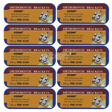 50x Dental Mini Roth 022 3 4 5 Hooks Brackets Laser Mark Metal Braces