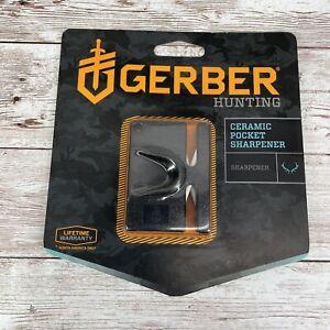 Gerber Hunting Ceramic Pocket Knife Sharpener Compact New Sealed