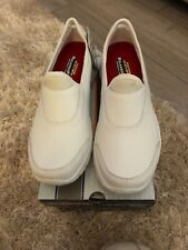 Sketchers WORK: RELAXED FIT - SURE TRACK White Slip On Trainers Size 6