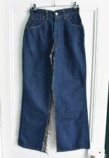 Vtg 50s LEVI'S Big E Dark Denim Jeans Hidden Rivets *Repairs, Modification* W24