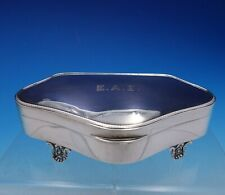 Watson and Hull English Sterling Silver Jewelry Box with Liner Footed (#4368)