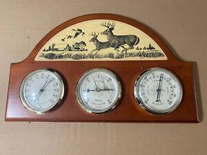 Vintage Weather Station-Barometer, Thermometer, Hygrometer