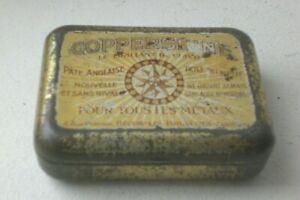 """ancienne boîte de Pate Anglaise COPPERSHINE """"Le brillant du cuivre"""". vide"""