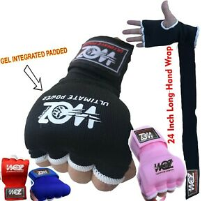 Fist Gel Bandages Inner MMA Boxing Quick Hand Wraps Gloves Muay Thai Straps