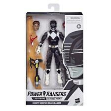 "Power Rangers Lightning Collection 6"" Mighty Morphin Black Ranger Zach Sealed"