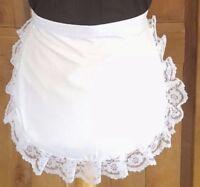 Child.s waist apron waitress vintage Edwardian Victorian Tudor,white lace edge