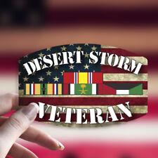 Desert Storm Veteran Decal/Sticker Flag Car Truck