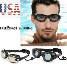 Adult Adjustable Hd Waterproof Swimming Goggles Anti Uv & Fog Clear Glasses Us