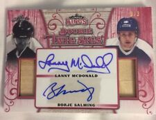 2017 Leaf Lumber Kings MCDONALD BORJE SALMING Dual Stick Autograph Twig Sigs 3/3