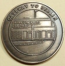 Berlin Brigade Allied Checkpoint Alpha Gateway To Berlin Army Challenge Coin