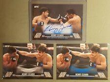 2017 Topps UFC Knockout Blue /25 Henry Cejudo #KA-HC Auto Plus extra cards LOT