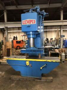 "150-Ton LEMCO Hydraulic Sraightening Press, 20"" stroke, 96"" x 21"" Bed, 31"" Open"