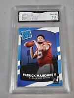 $100 PATRICK MAHOMES II 2017 NFL DONRUSS RATED ROOKIE 1ST GRADED 10 RC CHIEF🔥🔥