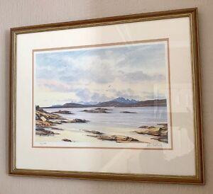 Ltd Ed 43/600 Skye From Arisaig Golf Course Framed Print By John Bathgate