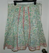 NWT RUBBER DUCKY beautiful PAISLEY PRINT Lace Trim SKIRT* M