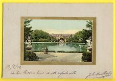 cpa Carton épais STUTTGART Anlagensee mit Residenz Schloss ALLEMAGNE GERMANY