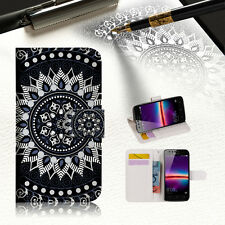 """Black AZTEC TRIBAL Wallet TPU Case Cover For New Huawei Y7 5.5"""" -- A005"""