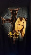 Vintage Black Buffy The Vampire Slayer Shirt XXL Sarah Michelle Gellar 2009 New