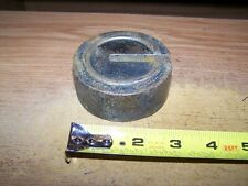 BRASS SCALE WEIGHT STAMPED 500 WEIGHT IS  2 1/2 POUNDS