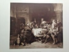 Old Comrades by T.A. Gaisser Vintage B&W Art Print Reproduction Gebbie & Co